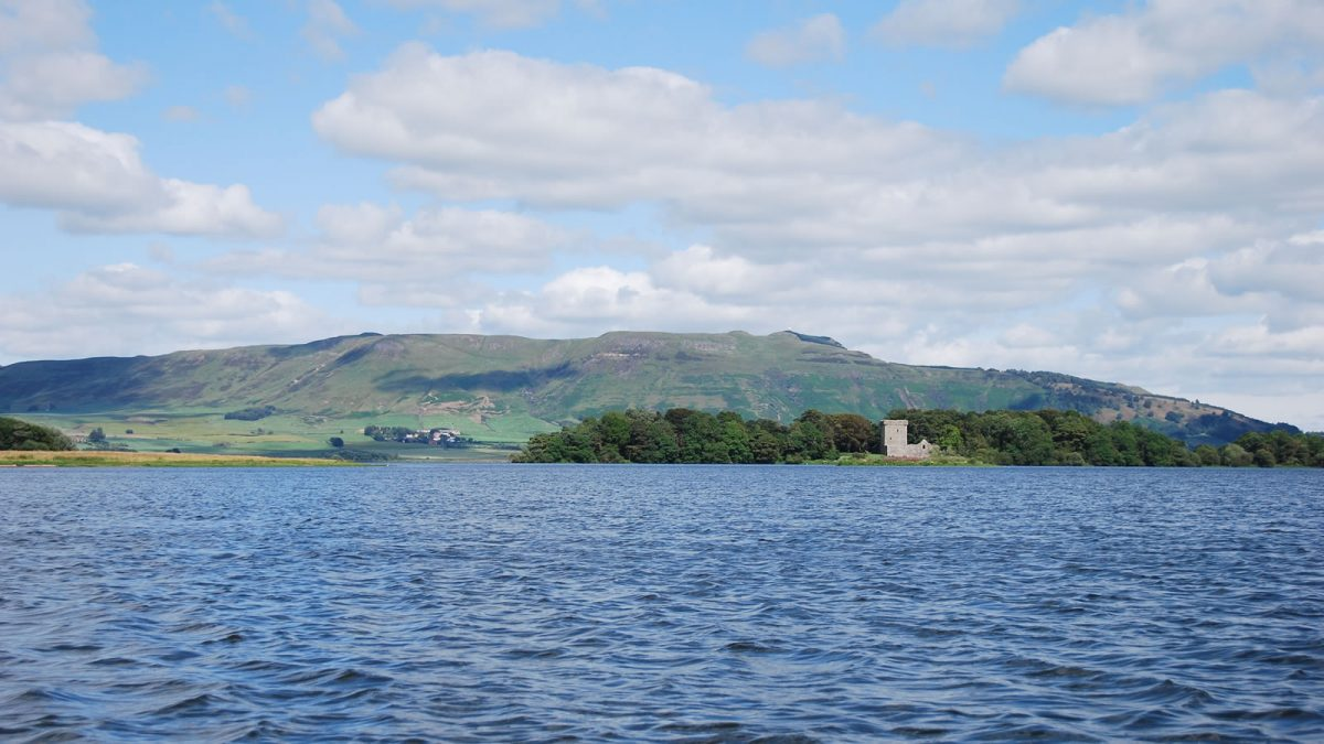 Loch Leven Castle, where Mary Queen of Scots was imprisoned