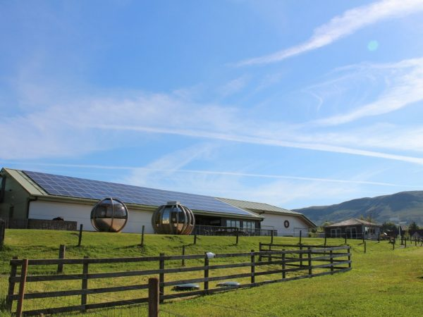 Solar panels at the Larder