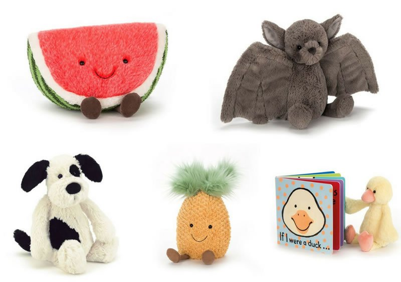 Soft toys from Jellycat